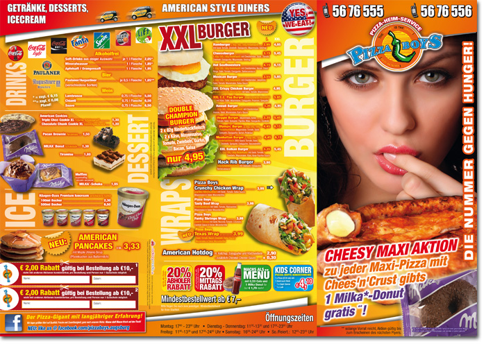 Pizza Boys Folder Juli 2012 | redfrogmedia.de | grafikdesign | gestaltung | satz & layout | augsburg